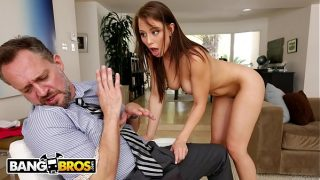 BANGBROS – Young Step Daughter Aidra Fox Takes Control Of Her Step Father